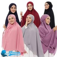 Bergo Maryam Super Jumbo Bahan Diamond Crepe Premium By Meisarah Hijab