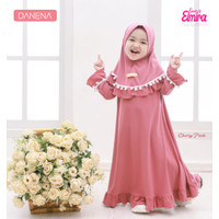 adorashop gamis elmira pompom balita anak baju muslim anak