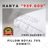 Bantal Bulu Angsa Asli Feather World, Type Royal 70% Down Uk48cmx74cm