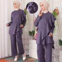 Baju Setelan Wanita Muslim Set Celana Rayon Polyester