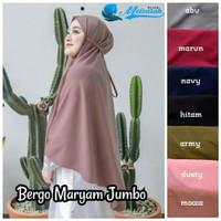 Bergo Maryam Jumbo Ukuran L Bahan Diamond Crepe Premium Meisarah Hijab