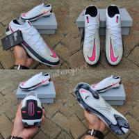 Sepatu Bola Nike Phantom GT White Pink Black Premium Original