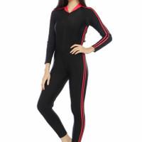Baju renang / swimsuit / diving panjang unisex dewasa - Merah, M