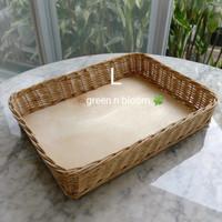keranjang parcel rotan nampan besar roti kue
