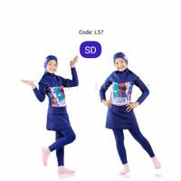 usia 8-13 Thn baju renang muslimah anak perempuan tanggung wanita smp