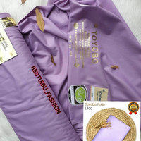 bahan kain katun toyobo warna lilac ecer per 0,5m, bahan gamis koko