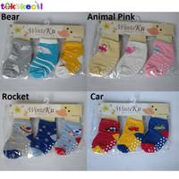 WinteKu Kaos Kaki Bayi ANTI SLIP Baby Socks isi 3 pasang 3in1 6-18M