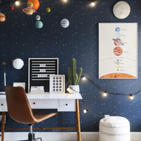 Poster Edukasi Balita Tata Surya - Solar System Preschooler Wall Art