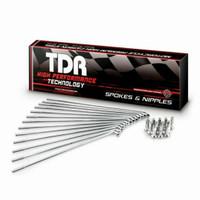 Jari Jari Motor KLX Spoke Set TDR 36 Hole Ring 18 Size 195 Original