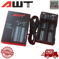 AWT C2 2A USB Battery Charger [AUTHENTIC] 2 Slot Fast Charger For Vape