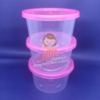 Cup Plastik 300ml PINK/Cup Puding/Cup Slime/Mangkok Plastik/Desert Cup