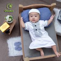 Ozuka Baju Muslim Gamis Bayi Koko Jubah Arab Bayi Laki Laki 1-2th Cowo