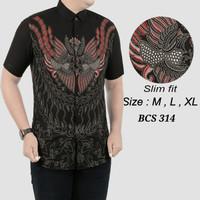 Batik,Kemeja slimfit pria,baju batik cowo lengan pendek ob 516
