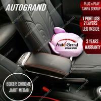 Console Box Armrest BRV Brio Mobilio Ignis 7 USB Port BLACK CHROME