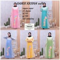 Gamis Krisna Soft Dress Batik Muslim Modern Etnik Baju Pergi Pengajian