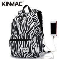 KINMAC B&W Premium Tas Laptop Backpack Tas Ransel with USB Charging