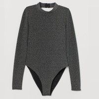 HnM sexy long sleeves bodysuit high neck backless 1