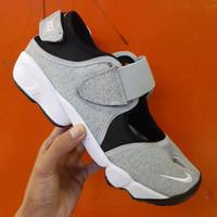Sepatu Sandal Nike Air Rift Couple Grey Black