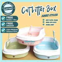 Tempat Pasir Kucing  MODERN CAT LITTER BOX  Bak Pasir Kucing - Biru