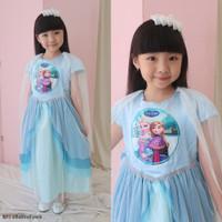 Gaun SNOWY FROZEN Size 5-6 Tahun / Ekspor Quality Premium Baju Dres