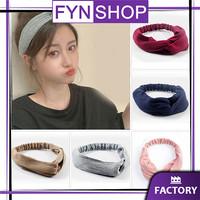 Fynshop ♛ AR22 Bandana Simpul Rajut Elastis Ala Korea / BANDO POLOS