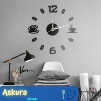 Jam Dinding DIY Wall Cangkir Kopi Angka Diameter 50 - 60 CM