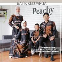 Couple Batik Gamis Set Anak Baju Seragam Batik Keluarga Sarimbit Jumbo - Kemeja Anak, M