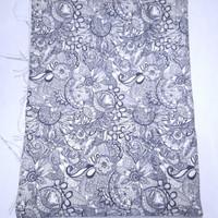 kanvas sakroot navy dan hitam ( 50 cm x 150 cm ) - Hitam