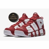 Nike Air More Uptempo x Supreme Univ Red Original PK / Sepatu Casual