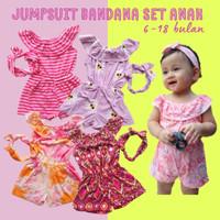 Jumpsuit Bayi Katun Kaos Lucu Murah Free bandana