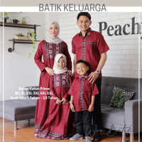 Baju Batik Couple Modern Kekinian / Batik Couple Set Keluarga Ayah Ibu - Kemeja Anak, M