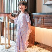 kaftan anak perempuan / Pakaian Muslim Anak (kode ungu)