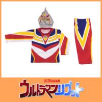 Baju Kostum Anak Ultraman Putih Setelan Panjang Cowok Karakter Anime - 4