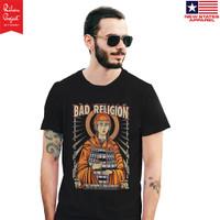 Kaos Musik Bad Religion Live San Band Punk T-Shirt NSA Premium Import