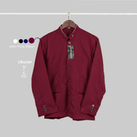 Baju Koko Busana Muslim Jasko Polos Merah Marun Elegan