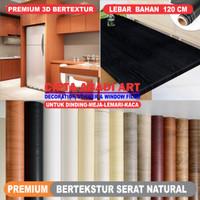 Stiker Serat Kayu Premium Natural Timbul untuk Meja, Lemari, Dinding
