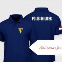 POLOSHIRT - KAOS POLO POLISI MILITER INDONESIA FULL SABLON