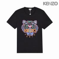 KAOS T-SHIRT KENZO MIRROR 1:1 KENZO PARIS TIGER BLACK 3 FULL BORDIR