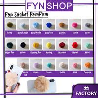 Fynshop ♛ AH05 Popsocket Warna 3D Pompom Pop Socket Bulu Aksesoris