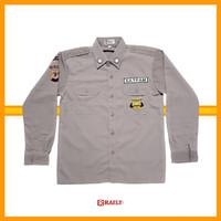 Baju PDH PDL SUS Satpam Terbaru Warna Coklat Polisi Security