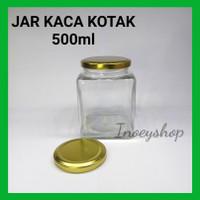 TOPLES KACA KOTAK 500ML TUTUP GOLD