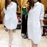 Baju Atasan Kemeja Dress Wanita DAYANA CTH - Putih