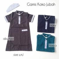 Baju Gamis Koko Jubah Anak Laki-Laki Set Peci