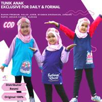 Baju Tunik Moslem Kids 2-11 th anak perempuan kaos atasan anak cewe