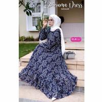 Baju Gamis Wanita Muslim Perempuan Dewasa Terbaru Zaruma Maxy Dress