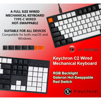 Keychron C2 Wired Hot Swappable RGB Backlight Gateron Red Switch