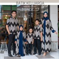 Couple batik keluarga sarimbit family/baju batik couple 1 set keluarga - Kemeja Anak, M
