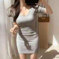 Korean Bodycon Mini Dress Sexy (Size S,M,L,XL)