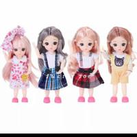 Boneka BJD 16cm ori Import 13 Sendi bisa digerakan Gratis Baju+Sepatu