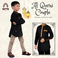 Baju koko couple ayah anak lengan panjang Al qarni original by Arra - Hitam, xl anak